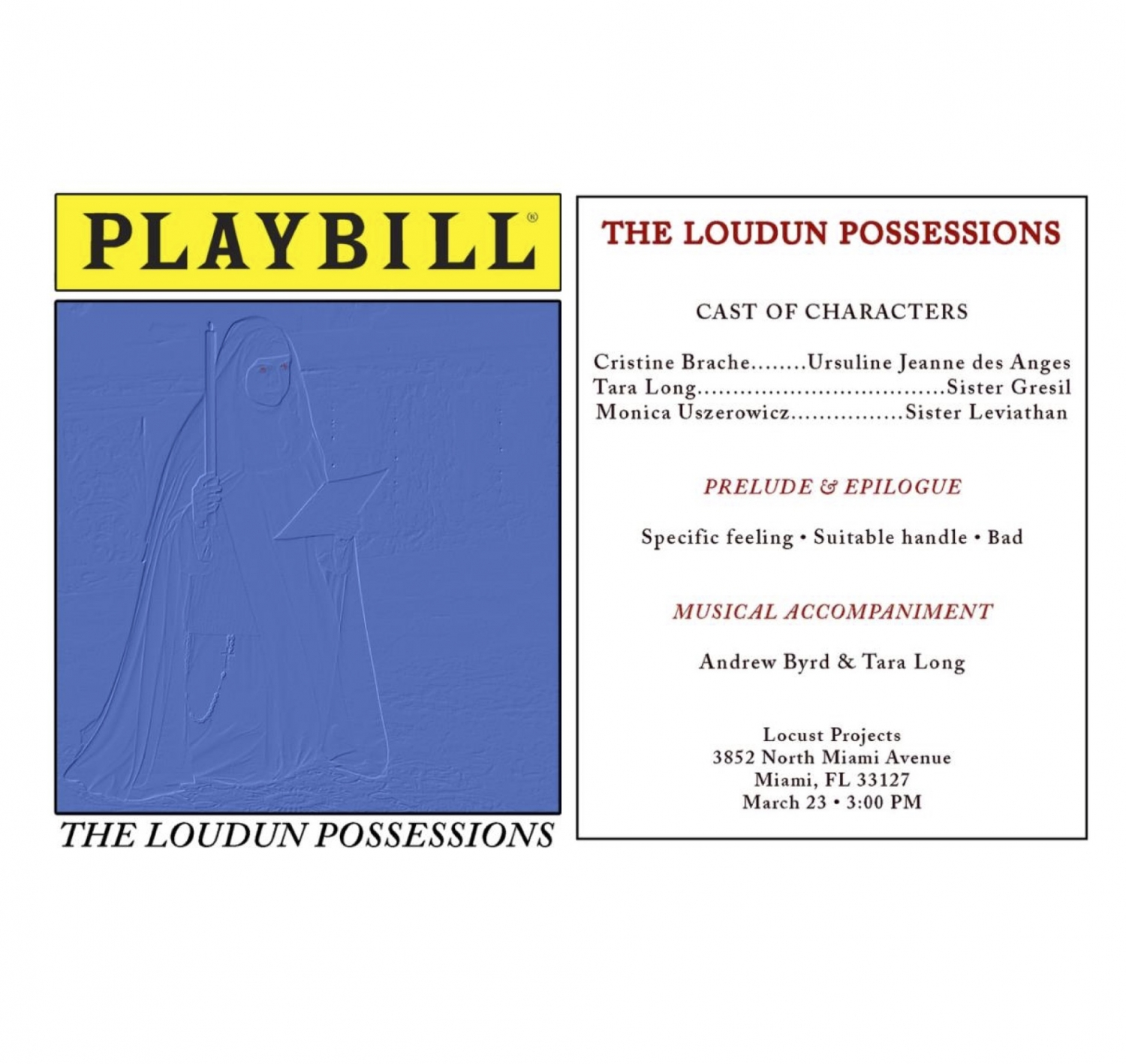 TALK and PERFORMANCE: The Loudun Possessions