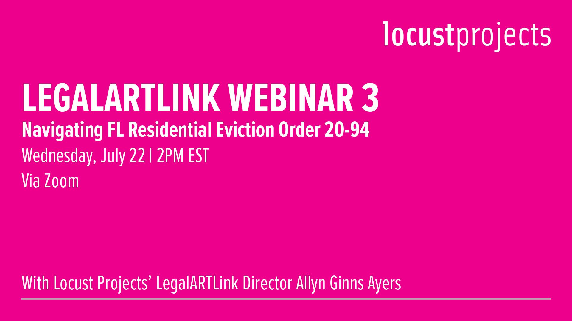LegalARTLink Webinar 3