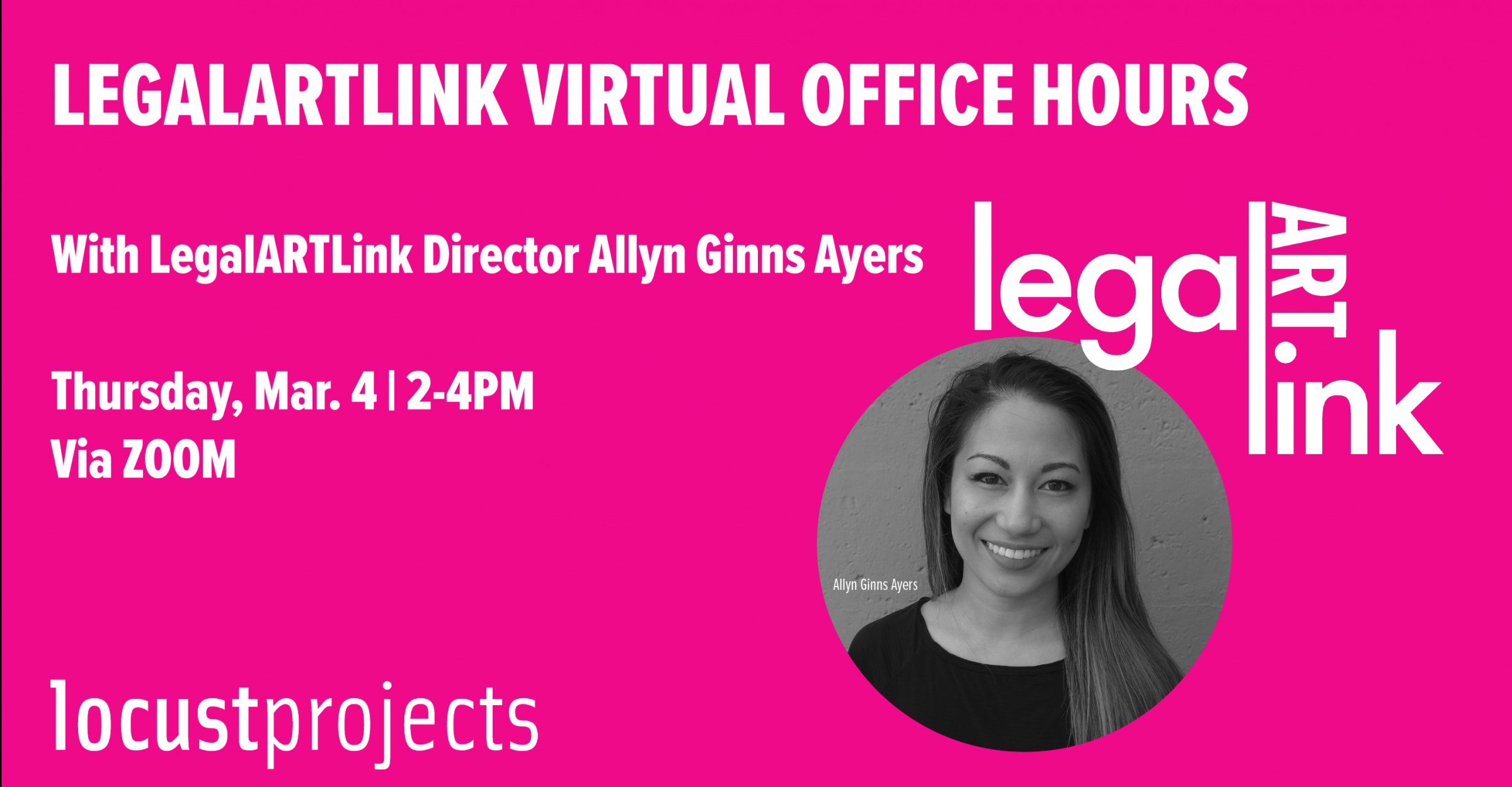 LegalARTLink Virtual Office Hours
