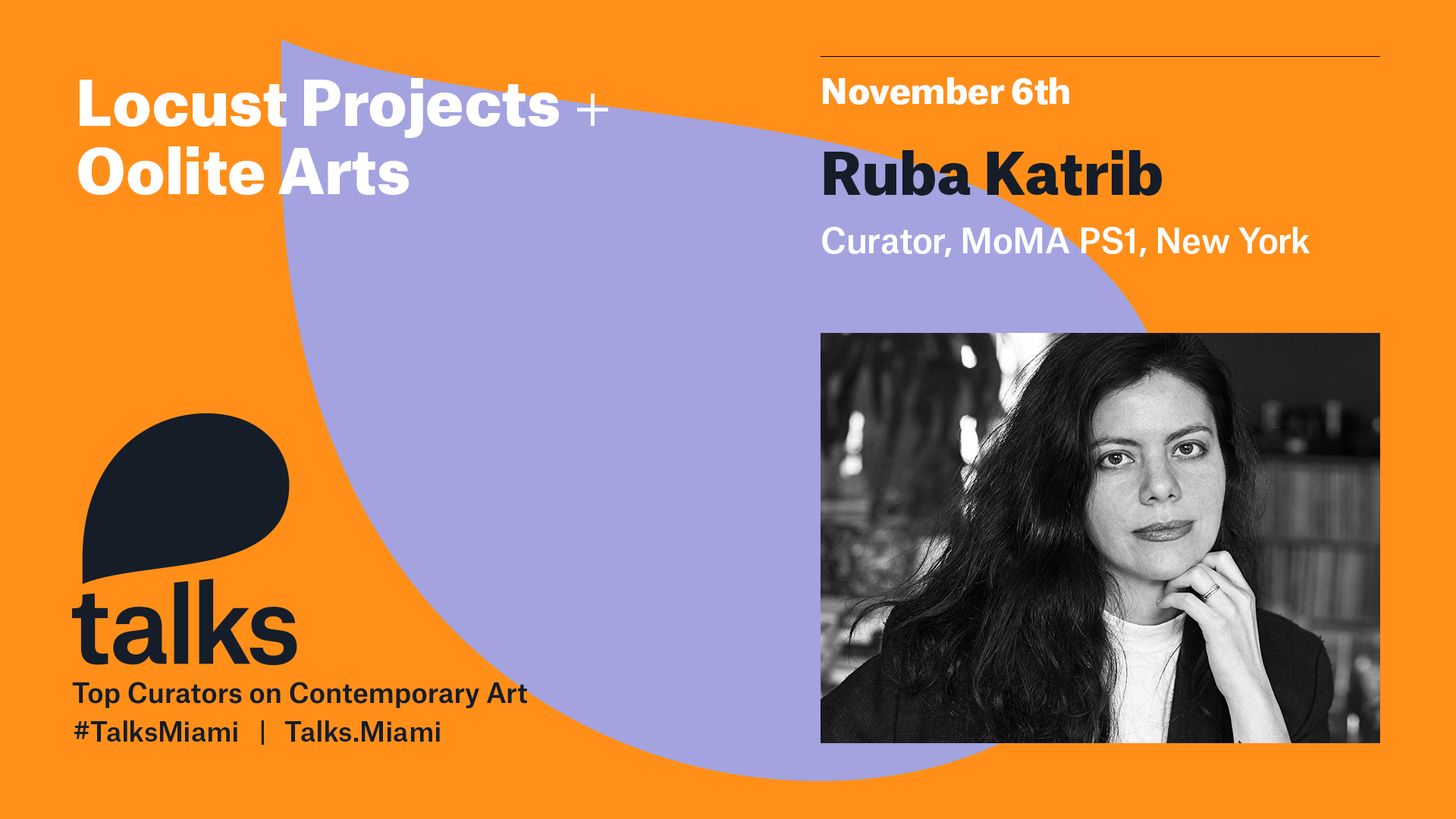 Register now for Talks with Ruba Katrib